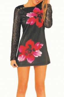 Culito from Spain černé šaty 2 Flores - XS