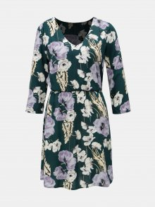 Krémovo-zelené květované šaty Jacqueline de Yong King