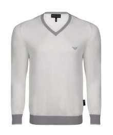 Béžovo-šedý elegantní svetr od Emporio Armani Velikost: S