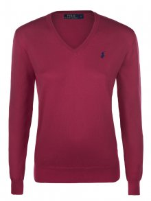 Červeno-modrý prémiový svetr od Ralph Lauren Velikost: XL