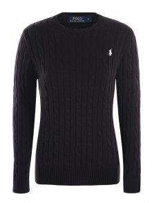 Černo-bílý prémiový svetr (U) s ornamentem od Ralph Lauren Velikost: M
