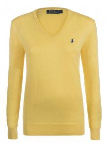 Žluto-modrý prémiový svetr od Ralph Lauren Velikost: XS