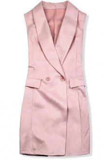 Růžová prodloužená vesta