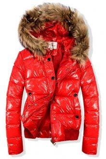Červená krátká bunda