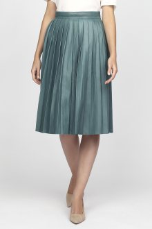 Sukně GANT G1. PLEATED LEATHER SKIRT