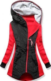 Červeno-černá mikina/bunda