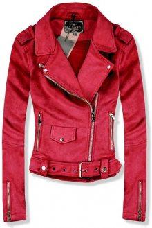 Červená semišová bunda