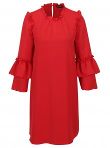 Červené šaty s volány Dorothy Perkins