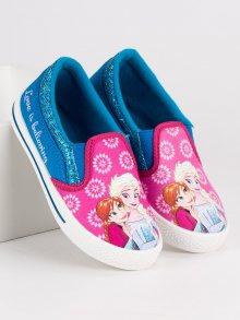 Dívčí modro-růžové nazouvací tenisky Ledové království