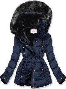 MODOVO Dámská zimní bunda s kapucí W736 tmavě modrá