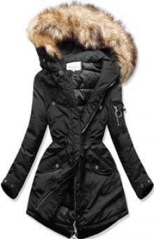 MODOVO Dámská zimní bunda s kapucí W710 černá