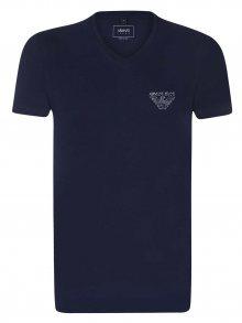 Emporio Armani Tmavě modré elegantní tričko od Armani Jeans Velikost: L