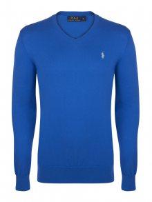 Modro-zelený prémiový svetr od Ralph Lauren Velikost: 2XL