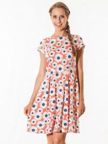 Tova Dámské šaty O0002178_Coral, ecru, navy blue\n\n