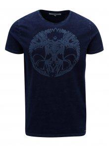 Tmavě modré pánské tričko s potiskem Garcia Jeans