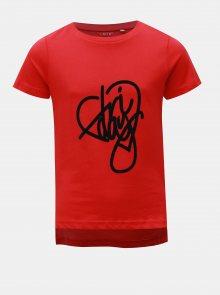 Červené holčičí tričko s potiskem LIMITED by name it