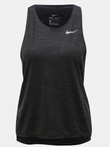 Šedé dámské vzorované funkční tílko Nike Medalist