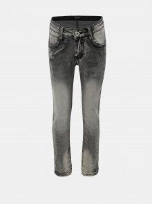 Šedé klučičí džíny s vyšisovaným efektem North Pole Kids