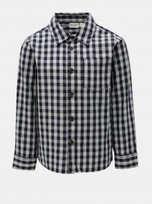 Bílo-modrá klučičí kostkovaná košile Name it Villan