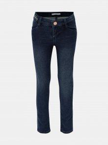 Modré holčičí skinny džíny s výšivkou Name it Polly