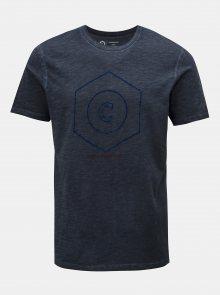 Tmavě modré žíhané tričko Jack & Jones Pigments