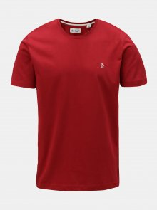 Červené tričko s krátkým rukávem Original Penguin Pin point