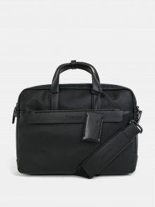 Černá koženková taška na notebook Calvin Klein Jeans 15\