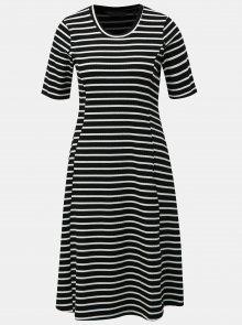 Bílo-černé pruhové šaty s krátkým rukávem Dorothy Perkins Tall