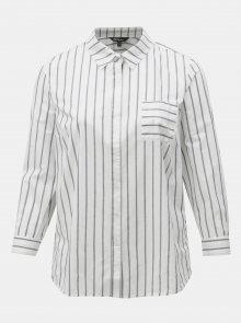 Šedo-bílá pruhovaná košile Ulla Popken