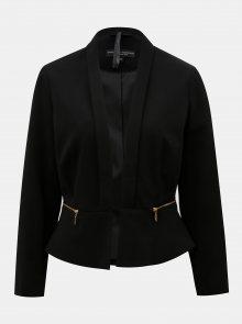 Černé sako se zipy ve zlaté barvě Dorothy Perkins