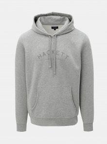 Šedá classic fit mikina s kapucí Hackett London