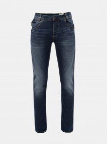 Modré pánské tapered fit džíny s vyšisovaným efektem Garcia Jeans
