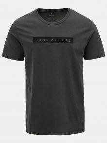 Šedé tričko s výšivkou JUNK de LUXE