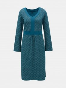 Petrolejové vzorované šaty Tranquillo Aphaia