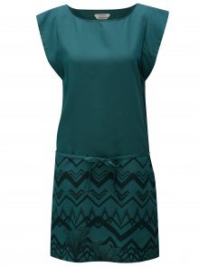 Tmavě zelené šaty s potiskem SKFK Tilde