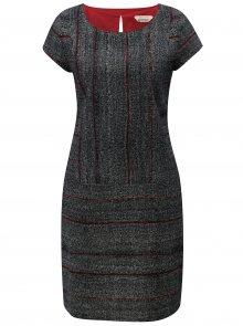 Šedo-černé vzorované šaty SKFK Elosta