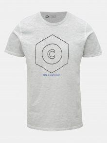 Světle šedé žíhané tričko Jack & Jones Pigments