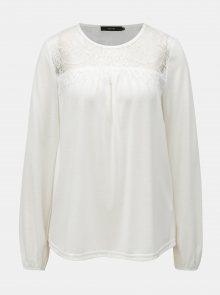 Bílé tričko s krajkovým sedlem VERO MODA