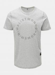 Světle šedé žíhané tričko Jack & Jones Gel