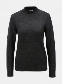 Tmavě šedý svetr se stojáčkem VILA Ril