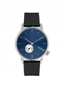 Unisex hodinky s černým koženým páskem Komono Winston Subs