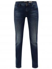 Tmavě modré dámské straight džíny s vyšisovaným efektem Garcia Jeans Rachelle