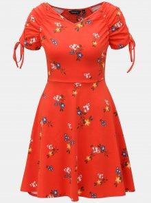 Červené vzorované šaty  Dorothy Perkins