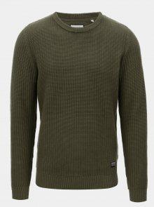Zelený bavlněný svetr Shine Original