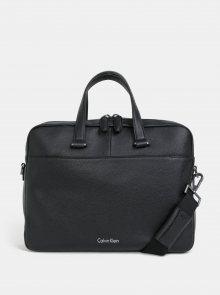 Černá pánská kožená taška na notebook Calvin Klein Jeans 15\