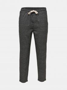 Tmavě šedé  kostkované kalhoty ONLY & SONS Linus