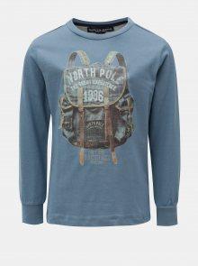 Modré klučičí tričko s potiskem North Pole Kids