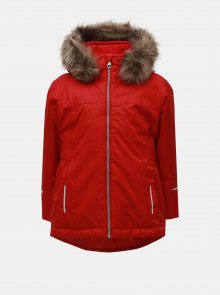 Červená holčičí funkční zimní bunda Name it Snow