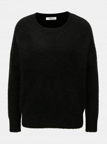 Černý vlněný oversize svetr Moss Copenhagen