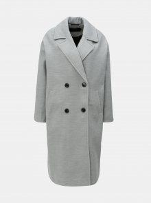 Šedý žíhaný kabát VERO MODA